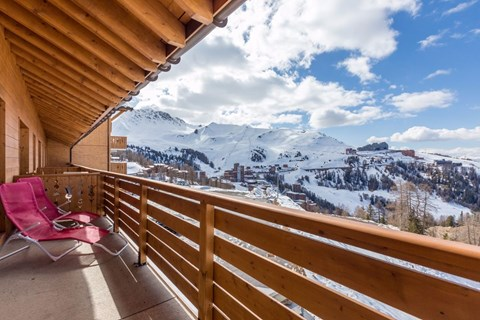 Sun Valley, La Plagne (Paradiski) - Balcony View