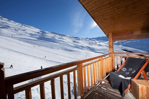 Hotel Kaya, Les Menuires (3 Valleys) - Balcony Views