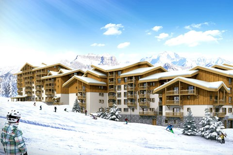 Front de Neige, La Plagne Village (Paradiski) - Ski in Ski out (Artists Impression)