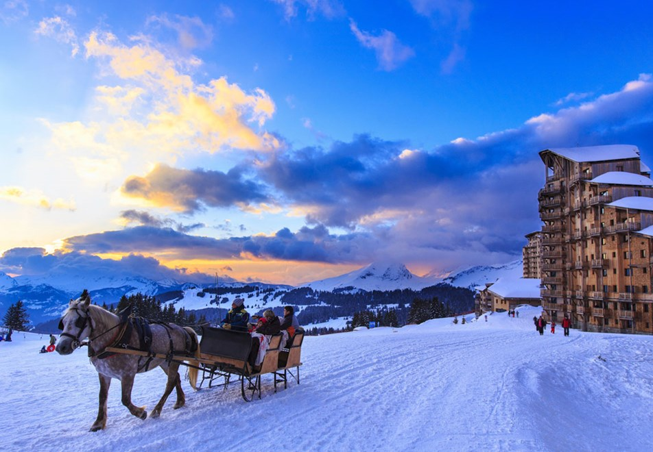 Avoriaz Ski Resort - Horse drawn sled (©Pascal-Gombert)