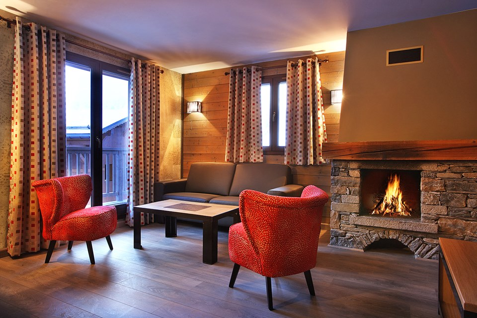 Chalet des Neiges Arolles, Arcs 2000 (self catered apartments) - Apartment with fireplace
