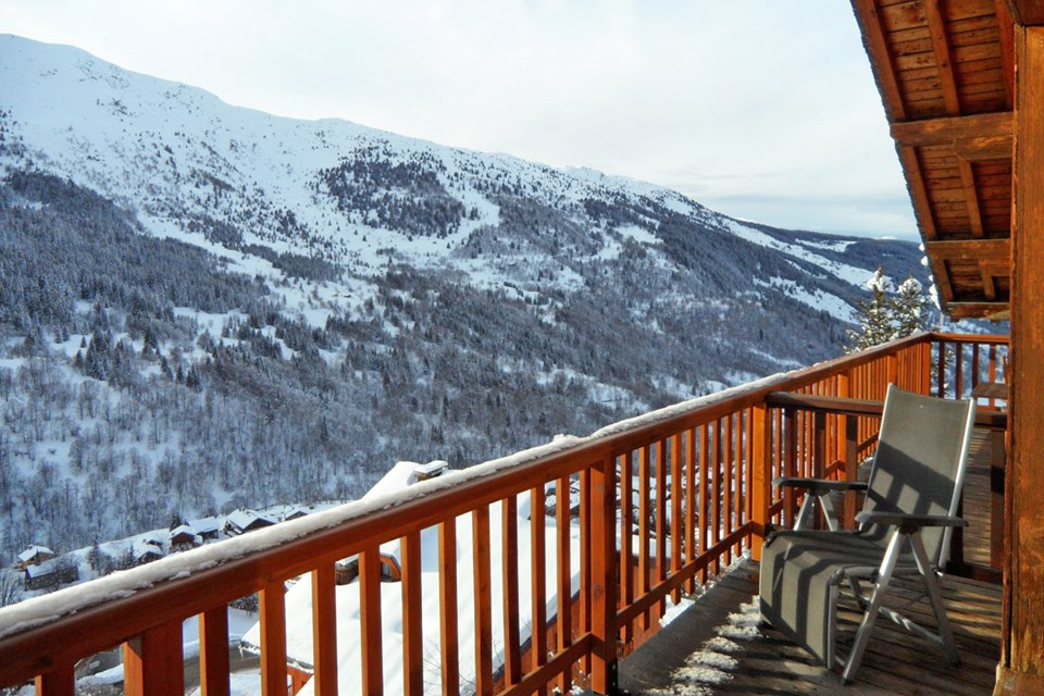 Le Lac Noir, Meribel (self catered apartment) - West facing balcony