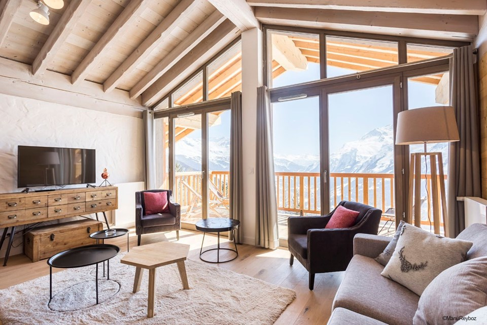 Hameau de Barthelemy, La Rosiere (self catered apartments) - 2 bedroom cabin apartment