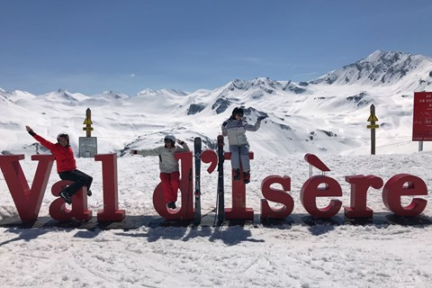 The team in Val d'Isere