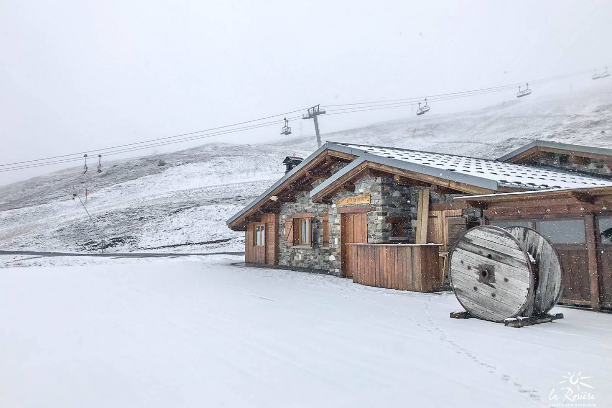 La Rosière early season snow 2018