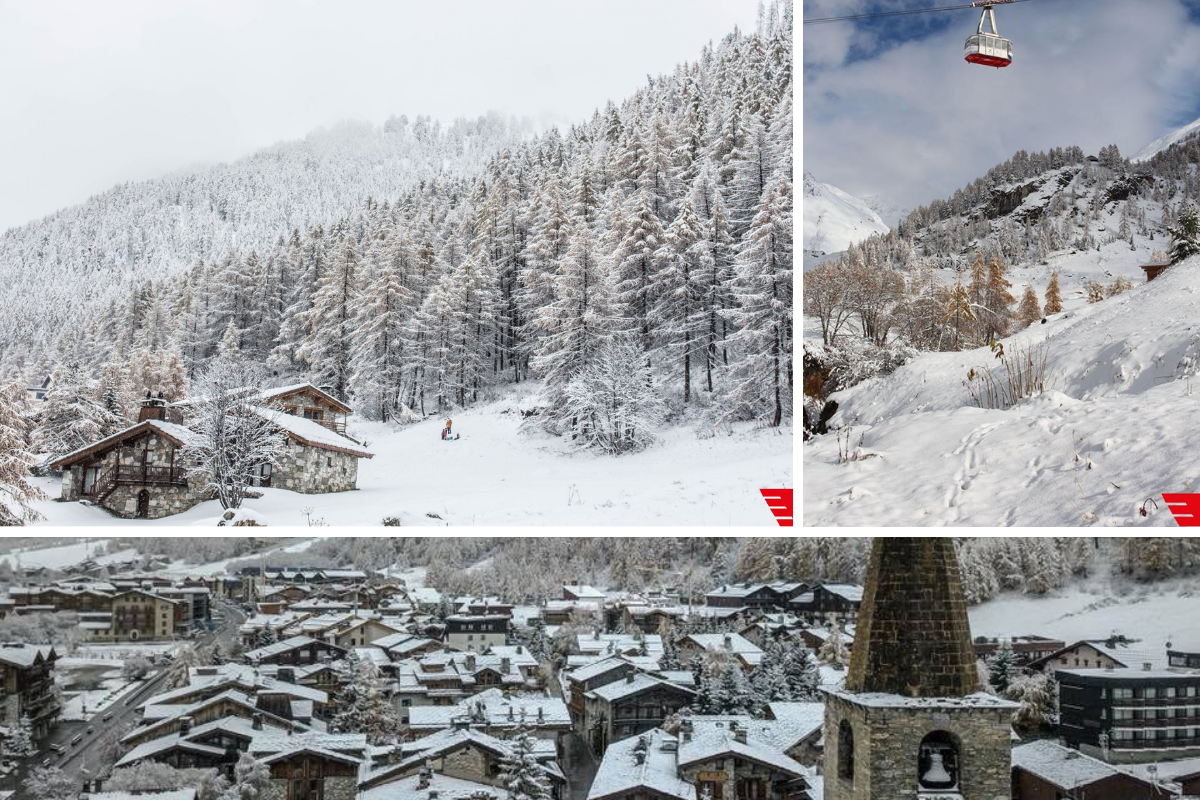 Val d'Isère new snow early season 2018