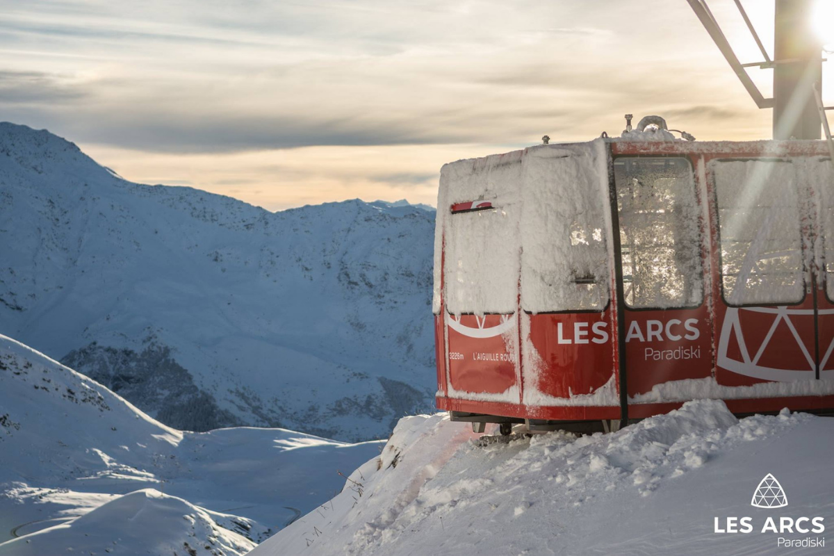 Les Arcs lift early season snow 2018