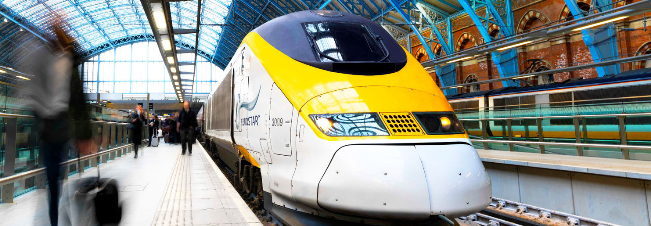 Ski Train - The Eurostar from London to the French Alps