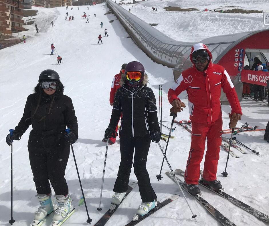 Skieurs débutants ESF Val Thorens