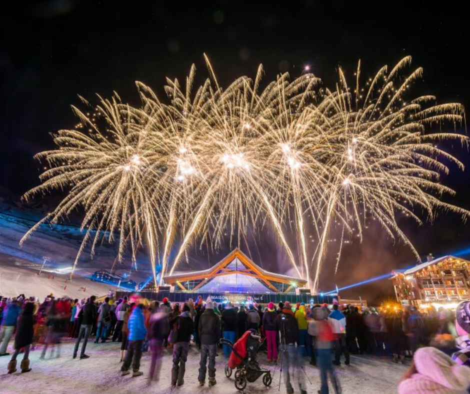 Tignes Christmas New Year fireworks