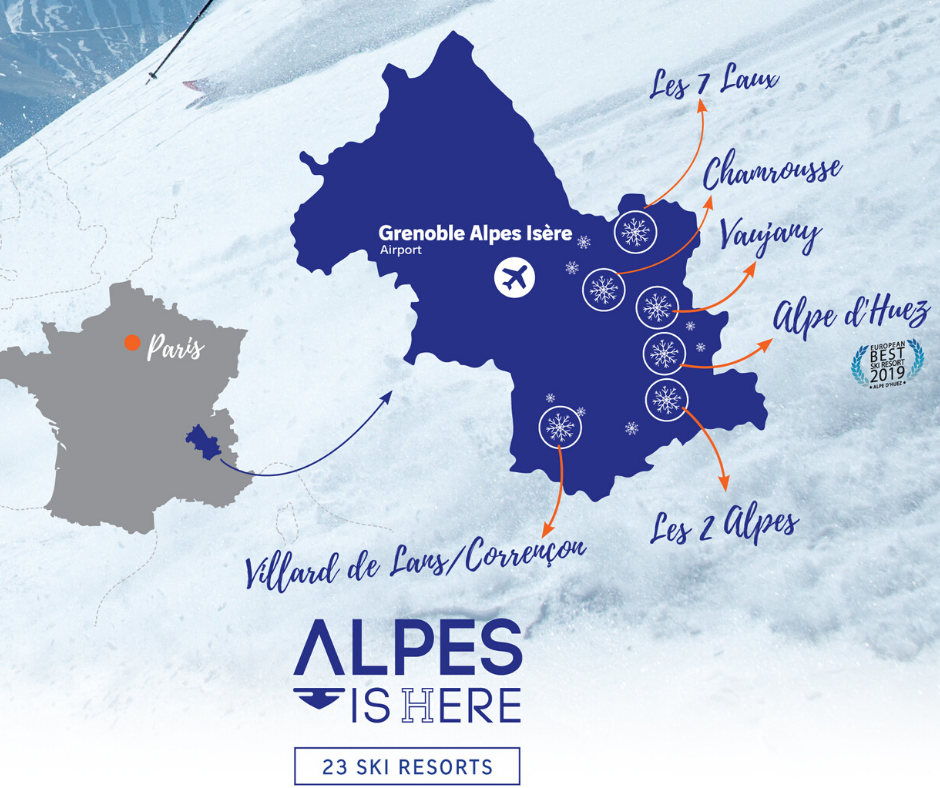 Grenoble Alpes Isère airport map