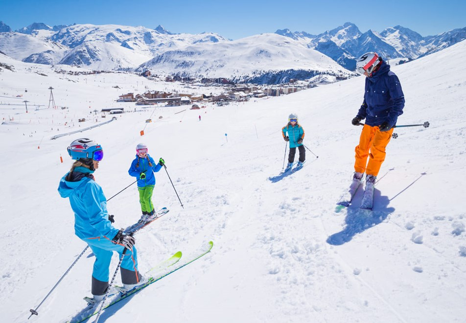 Alpe d'Huez Ski Resort (©Laurent-Salino) - Family skiing