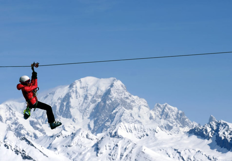 La Plagne Ski Resort - Supertyro zipline (©P-Royer)