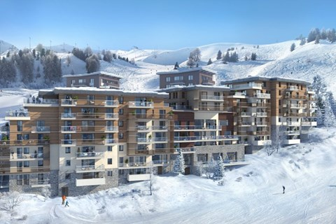 Manaka new apartments in Plagne Centre