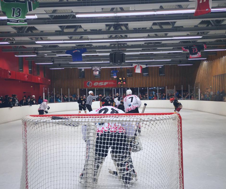 Hockey sur glace après ski la Rosière